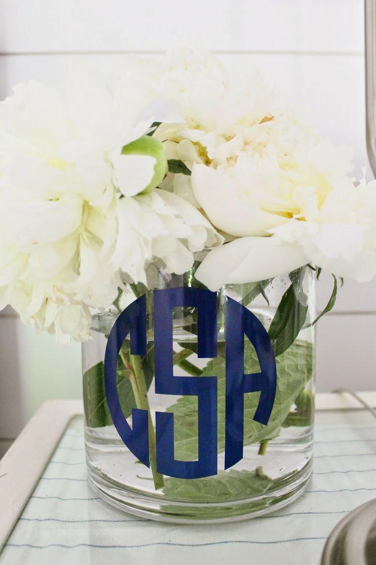 155 best embellished monogrammed vases images on pinterest diy monogram vase reviewsmspy