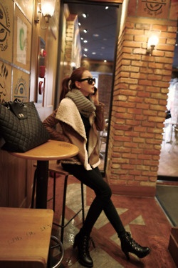 Warm winter style.