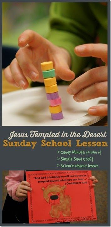 Tempted In The Desert Sunday School Lessons For Kids From Preschool 4th Grade