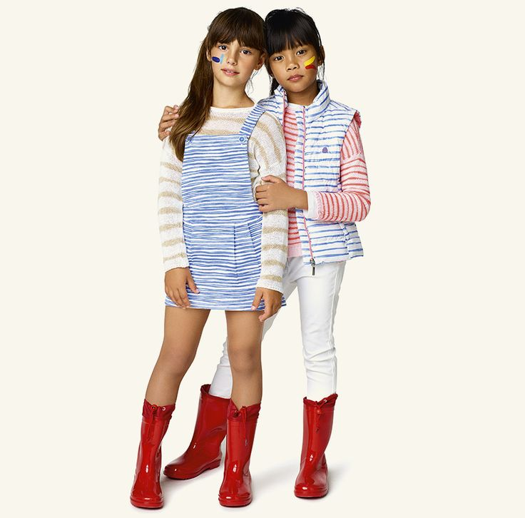 #Benetton #SS17 #collection #trend #fashion #kids #girl #stripes #blue #red