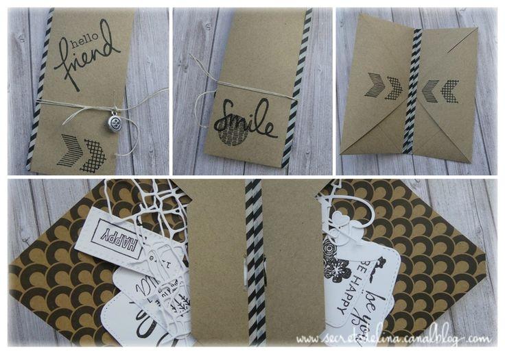 Flipbook hello friends kraft enveloppe #secretsdelina