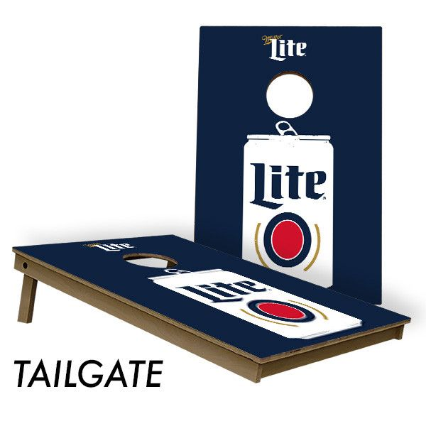 Officially licensed Miller Lite Cornhole Board Set. These are the baddest Miller Lite Cornhole Boards on the market hands down. Built to last. Miller Lite... spelled different because it is different.