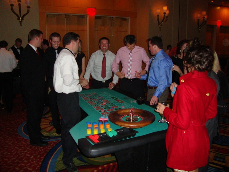 Corporate casino night holiday party