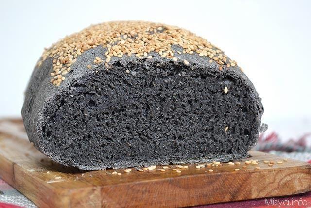 Brot auf Holzkohle