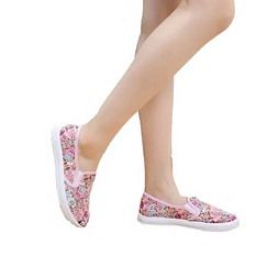 New Fashion Women Athletic Floral Flat Shoes Embroidered Shoes Casual Walking Cotton Shoes
