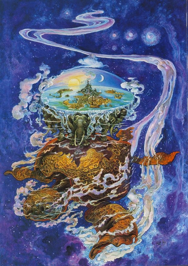 Painting of Discworld by Josh Kirby.