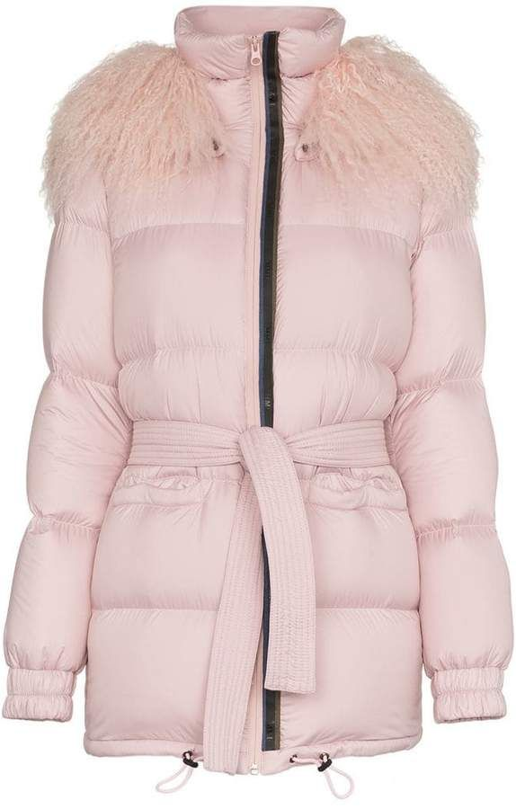 Collar amp; Feather Fur Down Puffer Italy Coat Mongolian Mrs Mr qgxSn4S