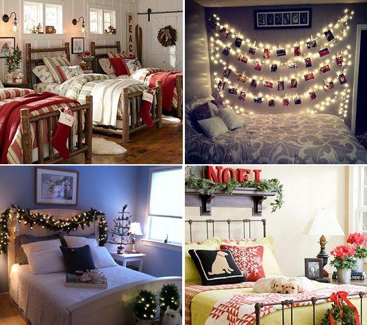 quartos decorados para o natal