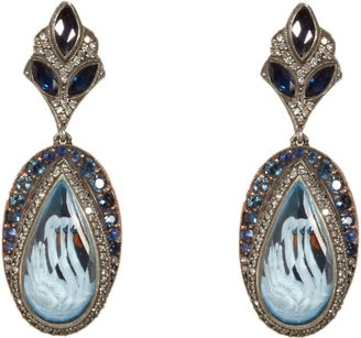 ShopStyle: Sevan Bicakci Swan Carved Topaz Earrings