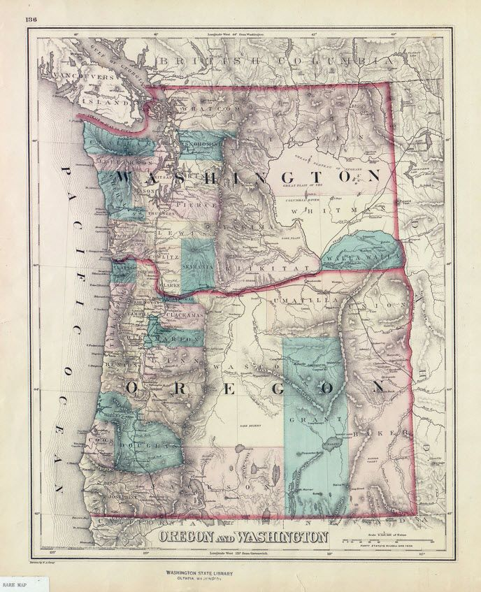 58 best Beautiful Maps from Early Washington images on