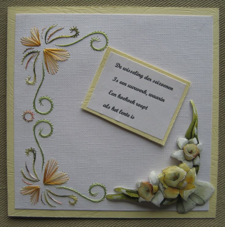 805 Best Kaartenmaken Images On Pinterest Paper Embroidery String