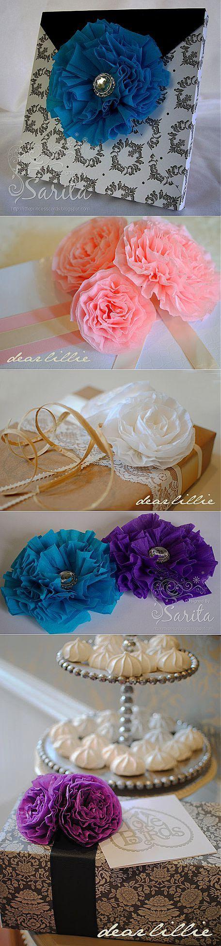 Цветы из гофрированной бумаги - дарим подарки красиво.