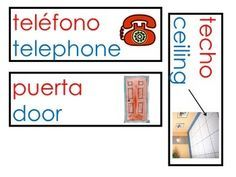 Hello! Hola!I use these labels at the beginning of the school year to help out my Spanish and English speaking students. . Students would help me label the classroom and repeat every word in Spanish and English. This is good for bilingual classrooms and Dual language.