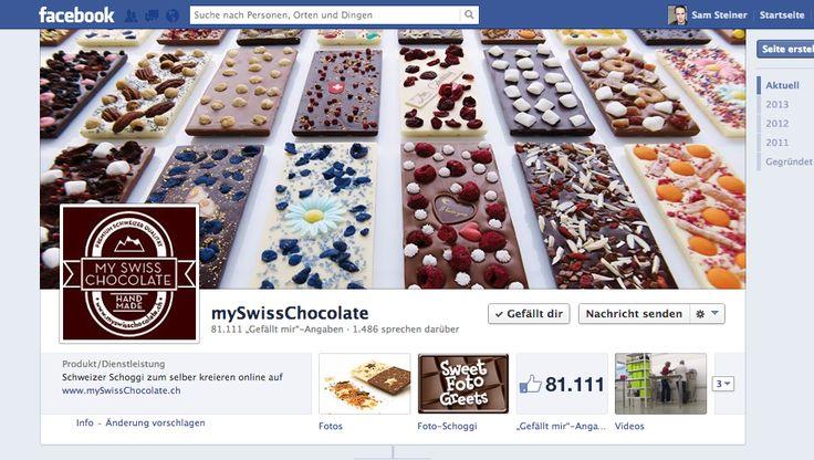 mySwissChocolate - @Sven Beichler  - eine kleine Firma mit relativ guter Reichweite in Facebook. Und erstaunlich hohen Conversion Rates! #schokolade #schweiz