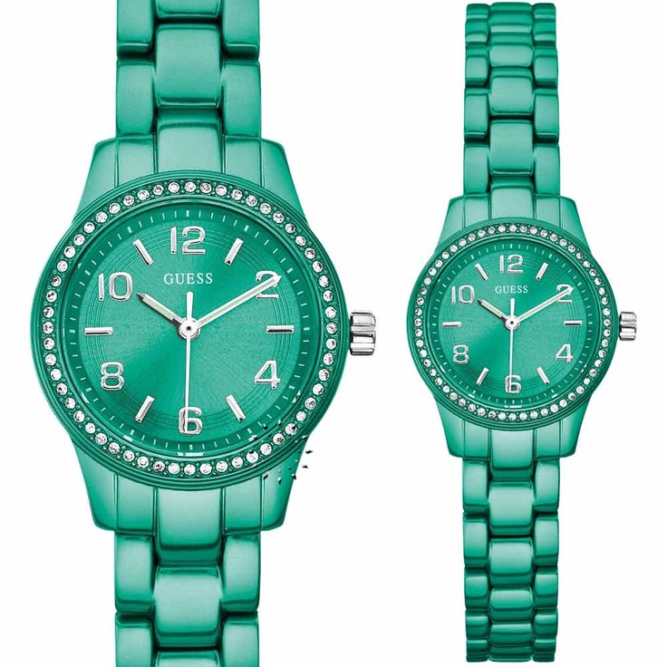 Guess Green Ladies Aluminum Bracelet  Μοντέλο: W80074L4  Τιμή: 108€  http://www.oroloi.gr/product_info.php?products_id=26029