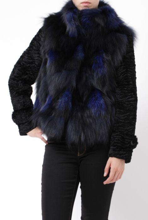 sword black and blue fur bomber jacket s.w.o.r.d. shop online