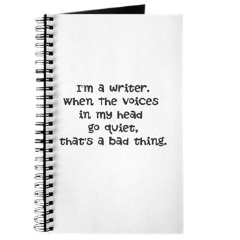 Great Journal/Notebook For Writers from Gifts for Writers at Cafepress. #Writing  #Writers #WrItersLife