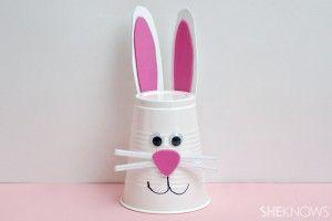 artesanías de papel taza del conejito (2)