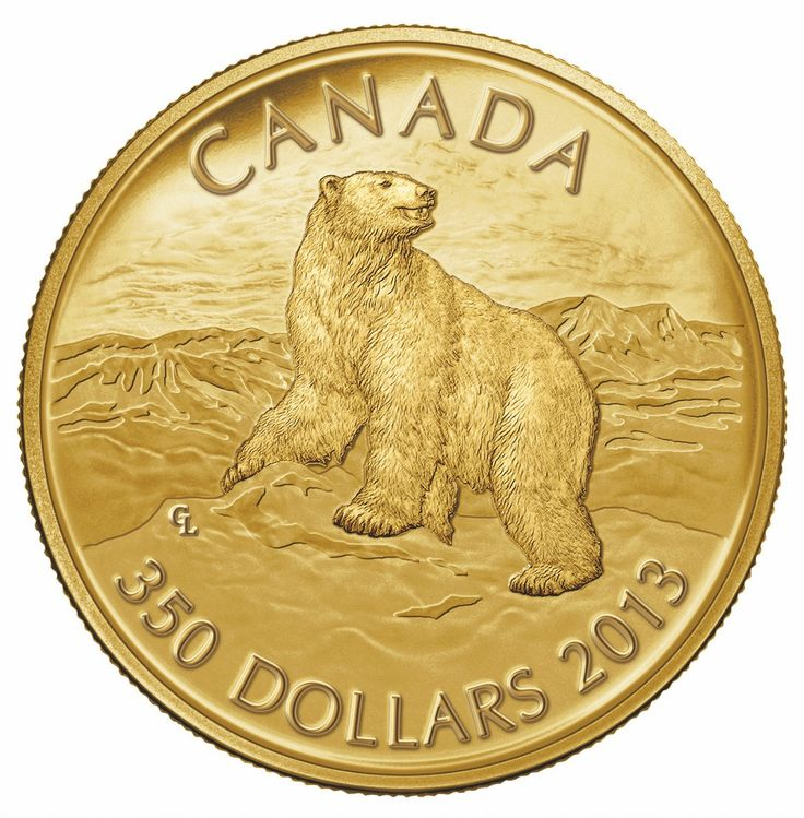 Royal Canadian Mint 2013 $350 Pure Gold Coin - Iconic Polar Bear