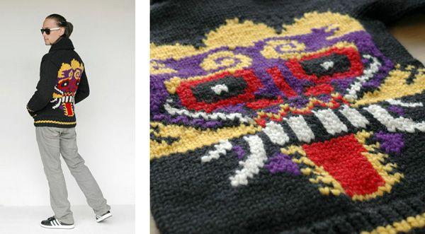 Balinese Mask Sweater