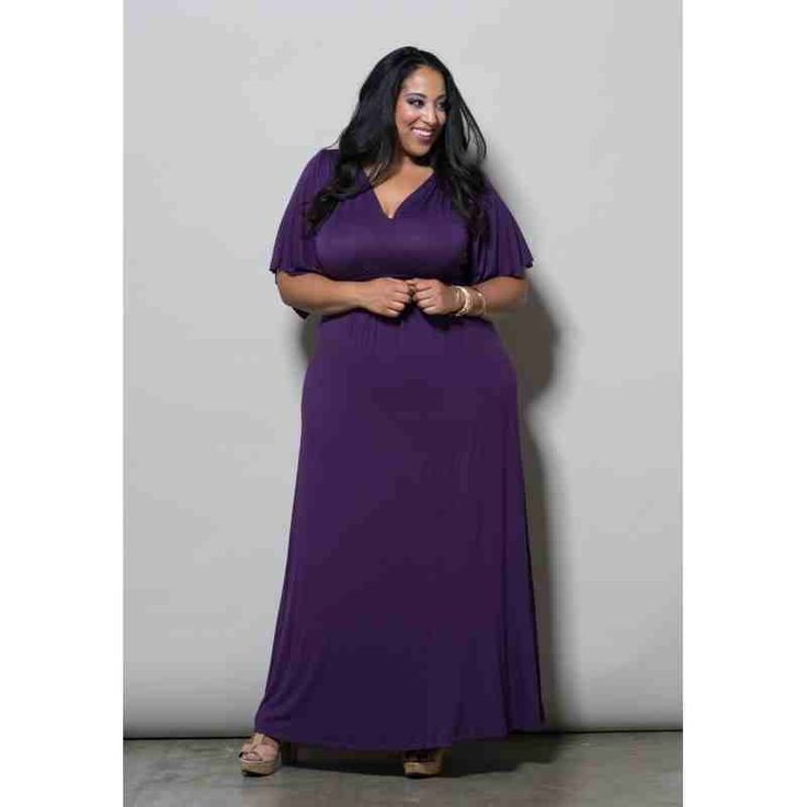 PRE-ORDER - Joan Maxi Dress (Majestic) Dark Eggplant $77.00 http://www.curvyclothing.com.au/index.php?route=product/product&path=95_98&product_id=7055&limit=100