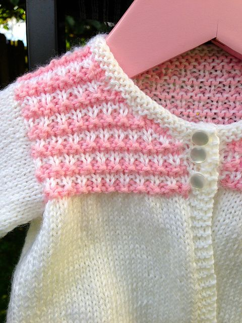 Ravelry: Sea Shells: Coat with Patterned yoke pattern by Watmoughs Knitting Studio