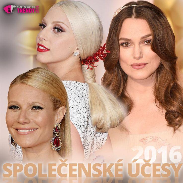 Společenské účesy 2016 inspirované celebritami na červeném koberci.