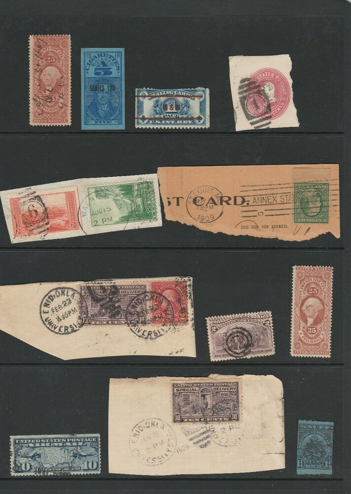 B.O.B. ,Revenues, Fancy cancels,Air mail and Pre cancel