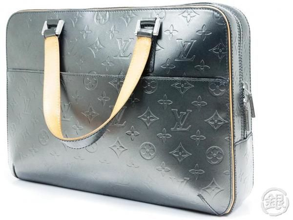 Authentic Pre Owned Louis Vuitton Monogram Mat Black Malden Hand Tote Ginza Japan Louis Vuitton Monogram Pre Owned Louis Vuitton Louis Vuitton