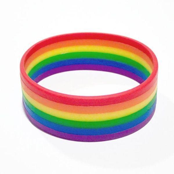 Gay Pride Wristbands PRIDE Wristband Lesbian LBGT Rainbow Pride Accessories