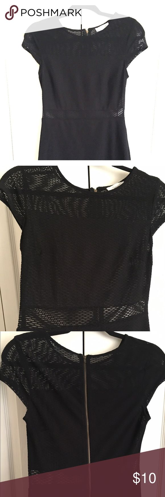 Mesh BodyCon Dress Short sleeved mesh see through trim BodyCon Dress. Very snug fit, perfect for a night out. Dresses