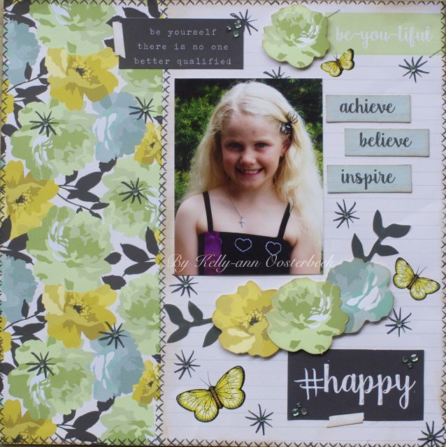 Layout By Kelly-ann Oosterbeek made using the #ME Collection from Kaisercraft. www.amothersart.com.au