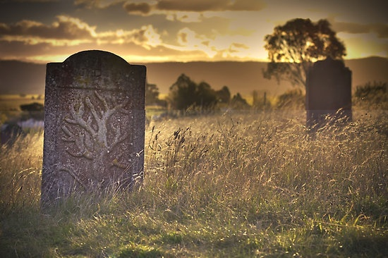 'Many lifetimes ago' By Jocelyn Parry-Jones  This photograph was taken in a grave yard at Ross, a small and very old town in Tasmania (Australia).