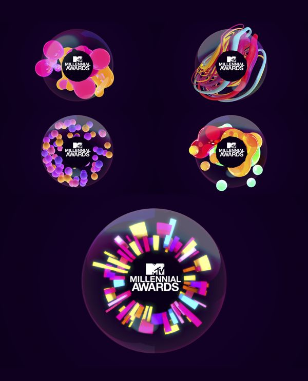MTV MILLENNIAL AWARDS by Barria Royer, via Behance