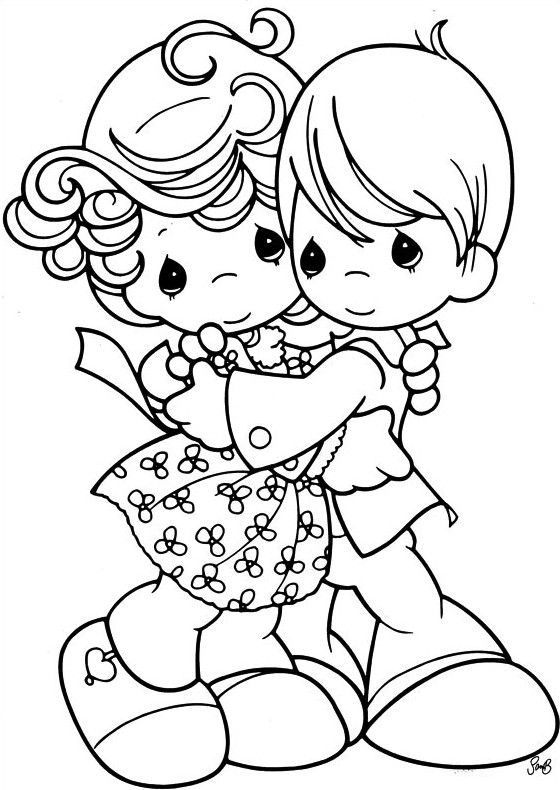 precious moments wedding coloring pages - photo#17