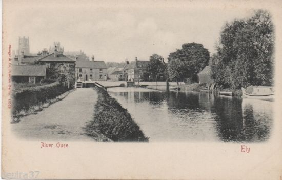 Cambridgeshire Postcard Ely The River Ouse Unposted Early Postcard | eBay