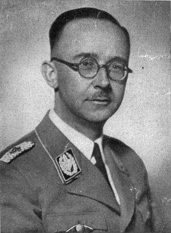 Heinrich Himmler, Reichsführer of the Schutzstaffel (SS), a military commander, and a leading member of the Nazi Party (NSDAP) of Nazi Germany. Nazi leader Adolf Hitler later appointed him Commander of the Replacement (Home) Army and General Plenipotentiary for the entire Reich's administration (Generalbevollmächtigter für die Verwaltung). Himmler was one of the most powerful men in Nazi Germany and one of the persons most directly responsible for the Holocaust.