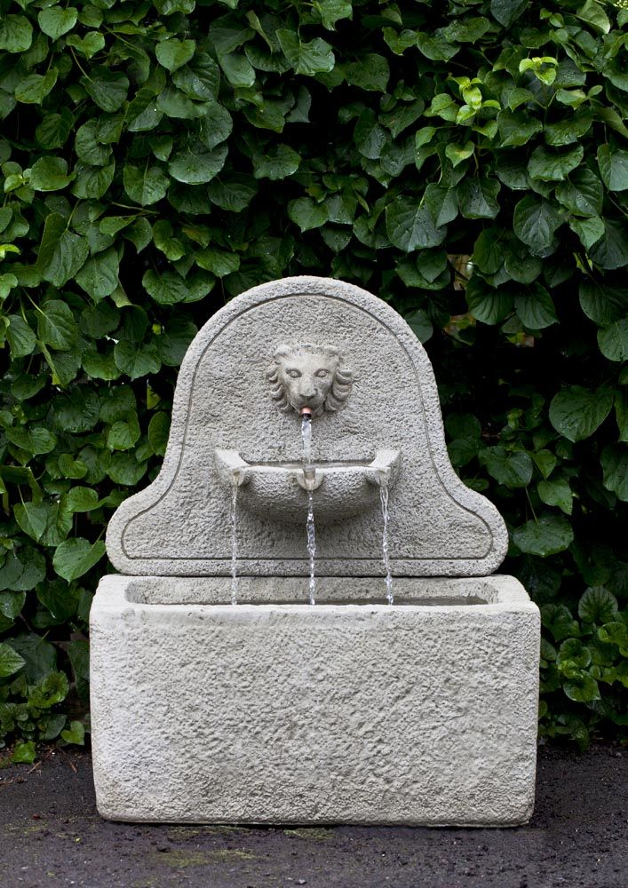 A Great Outdoor Water Feature That Features A Lion Face. The Leone Fountain  Is Made