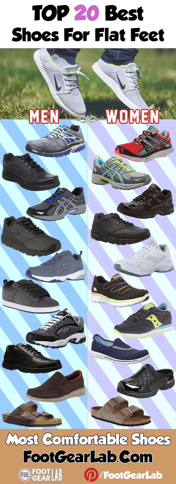 Best Shoes For Flat Feet Women and Men – Most Comfortable Shoes. @footgearlab
