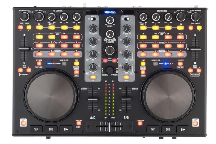 Amazon.co.jp: STANTON スタントン DJコントローラー 4デッキ オーディオ・インターフェイス内蔵 DJC.4: 楽器・音響機器