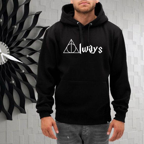 harry potter always deathly hellows hoodie  size by gajeshop