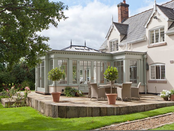 Decorative orangery complementing an existing country home