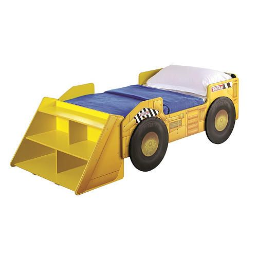 Dump Truck Toddler Bed : Tonka truck toddler bed with storage shelf