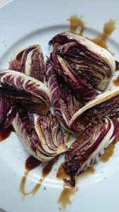 grilled radicchio with balsamic vinegar