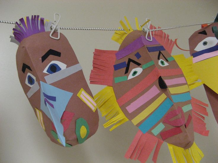 Native american masks no instructions but easy to make for How to make native american arts and crafts