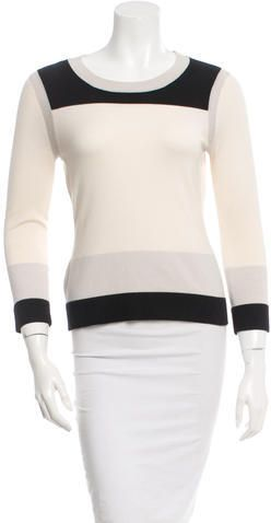 Narciso Rodriguez Colorblock Scoop Neck Sweater