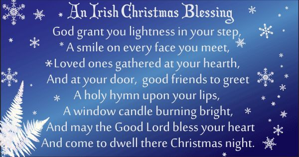 Irish Christmas blessing God grant your lightness Image copyright Ireland Calling