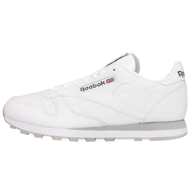 Reebok CL LTHR White Grey Classic Leather Mens Casual Shoes Sneakers  http://www