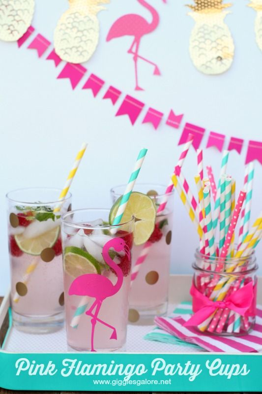 Pink Flamingo Party Cups