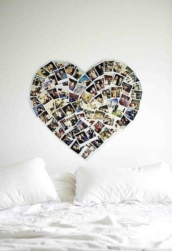 DecorWall Art, Dorm Room, Pictures Collage, Cute Ideas, Heart Shape, Photos Collage, Photos Wall, Photos Display, Bedroom